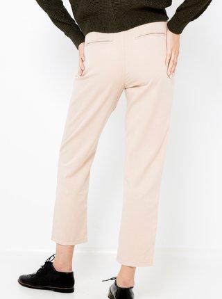 Krémové kalhoty se zavazováním CAMAIEU