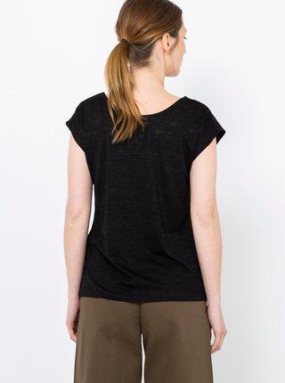 Černé tričko s flitry CAMAIEU