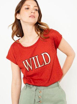 Červené tričko s potlačou CAMAIEU