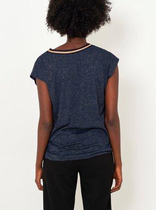 Tmavomodré žíhané tričko CAMAIEU