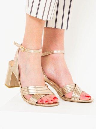 Zlaté sandále CAMAIEU