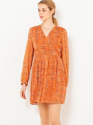 Oranžové šaty s hadím vzorom CAMAIEU