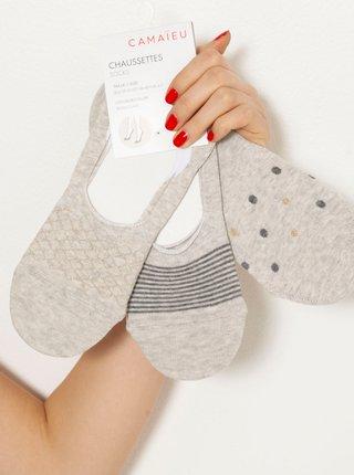 Svetlošedé ponožky CAMAIEU