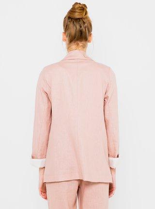 Světle růžové lněné sako CAMAIEU