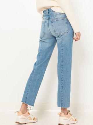 Modré straight fit zkrácené džíny CAMAIEU