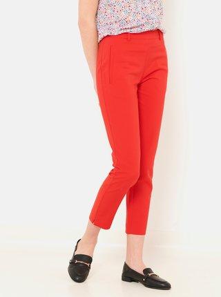 Červené skrátené nohavice CAMAIEU