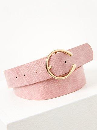 Světle růžový pásek s hadím vzorem CAMAIEU