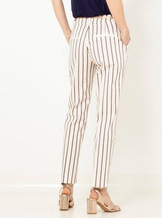Bílé pruhované kalhoty CAMAIEU