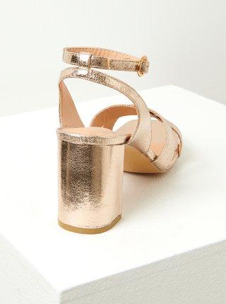 Růžovozlaté sandále CAMAIEU