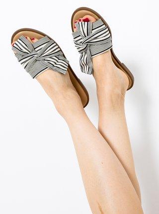 Šedé pruhované pantofle CAMAIEU