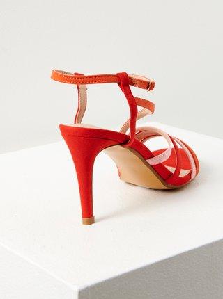Červené sandále v semišové úpravě CAMAIEU