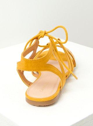 Horčicové sandále v semišovej úprave CAMAIEU