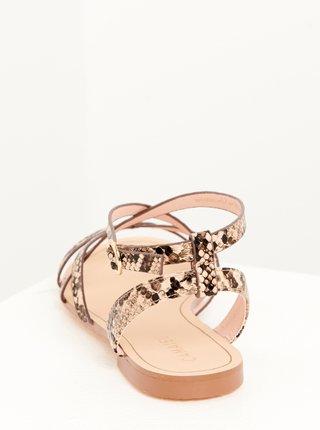 Béžové sandále s hadím vzorem CAMAIEU