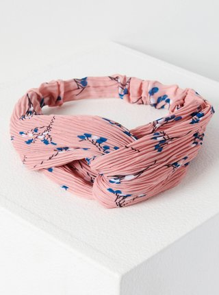 Ružová kvetovaná čelenka CAMAIEU