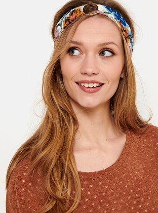 Biela kvetovaná čelenka s kovovým krúžkom CAMAIEU