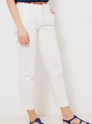 Bílé zkrácené kalhoty CAMAIEU