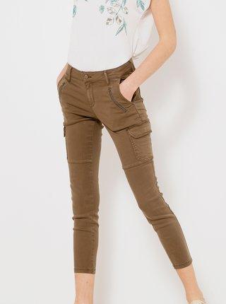 Hnedé skrátené nohavice s vreckami CAMAIEU