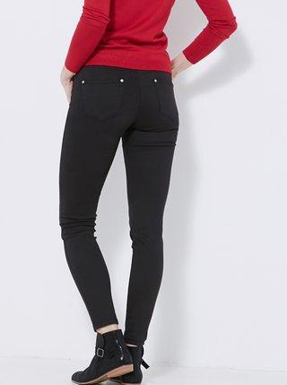 Čierne skinny fit nohavice CAMAIEU