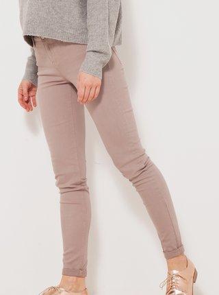 Starorůžové skinny fit kalhoty CAMIEU