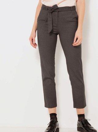 Tmavě šedé kalhoty CAMAIEU