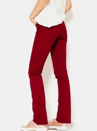 Červené  flared fit nohavice CAMIAEU