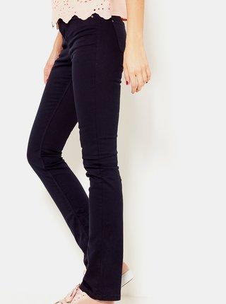 Tmavě fialové flared fit kalhoty CAMAIEU