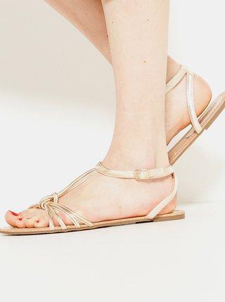 Sandály v růžovozlaté barvě CAMAIEU