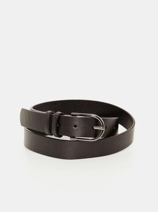 Černý kožený pásek CAMAIEU
