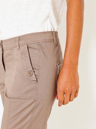 Béžové 3/4 straight fit kalhoty CAMAIEU