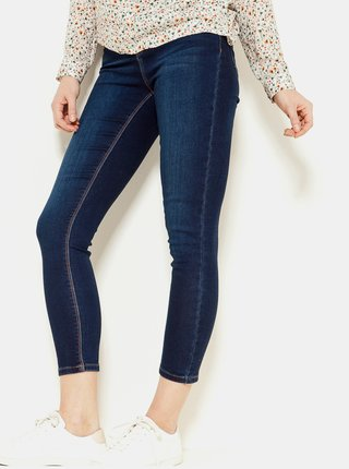 Tmavě modré zkrácené skinny fit džíny CAMAIEU
