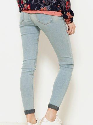 Světle modré zkrácené skinny fit džíny CAMAIEU