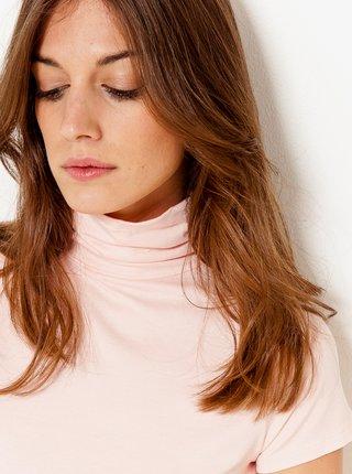 Tričká s krátkym rukávom pre ženy CAMAIEU - svetloružová