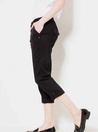 Černé 3/4 straight fit kalhoty CAMAIEU