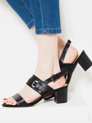 Černé sandálky na vysokém podpatku CAMAIEU
