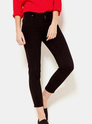 Černé zkrácené skinny fit kalhoty CAMAIEU