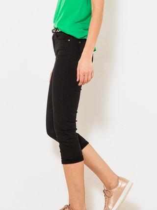 Černé 3/4 slim fit kalhoty CAMAIEU