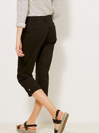 Čierne 3/4 straight fit nohavice CAMAIEU