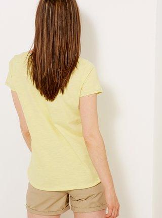 Žluté tričko s kapsou CAMAIEU