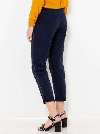 Tmavě modré zkrácené straight fit kalhoty CAMAIEU