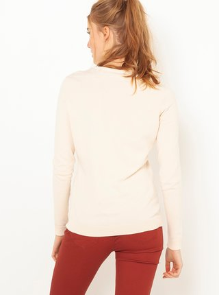 Krémový lehký basic svetr CAMAIEU