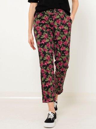 Černé květované kalhoty CAMAIEU