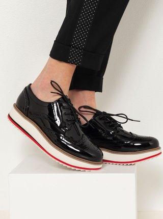 Černé brogue boty CAMAIEU