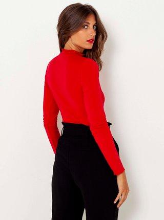 Červené tričko se stojáčkem CAMAIEU