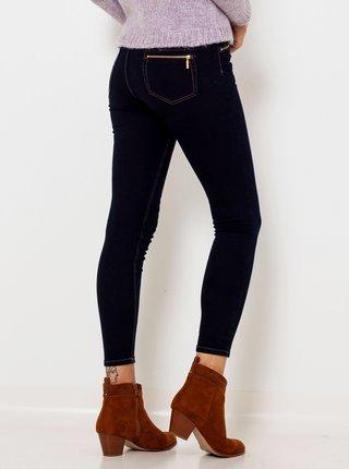 Tmavě modré zkrácené slim fit džíny CAMAIEU