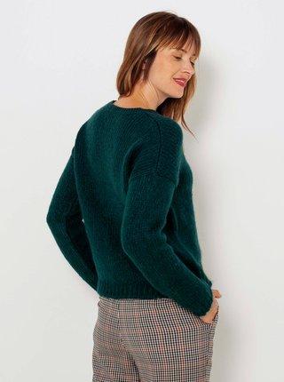 Tmavě zelený svetr s příměsí vlny CAMAIEU