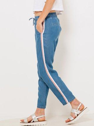Modré skrátené nohavice s pásom CAMAIEU