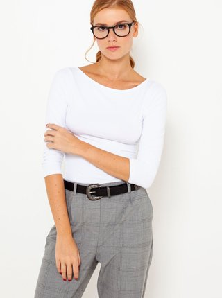 Bílé tričko s tříčtvrtečním rukávem CAMAIEU