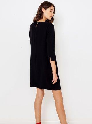 Čierne šaty s trištvrťovým rukávom CAMAIEU