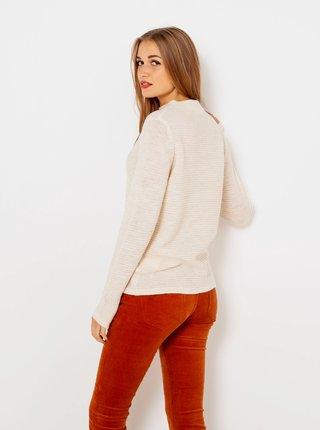 Krémový sveter s prímesou vlny CAMAIEU