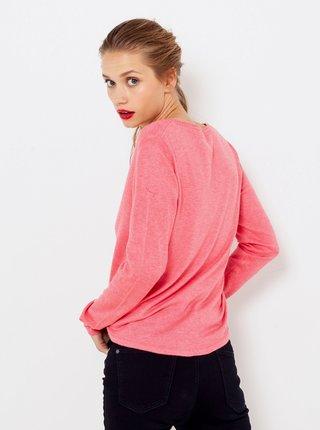 Růžový lehký svetr CAMAIEU